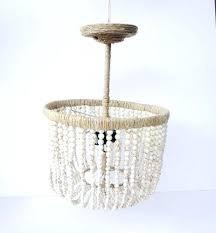 world market beaded chandelier honeycomb wood bead driftwood small