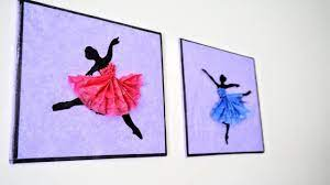 Did you scroll all this way to get facts about paper wall decor? Ballerina Hanging Wall Decor Diy Handmade Paper Craft Home Decoration Ideas Art And Craft Youtube