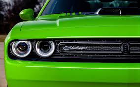 green dodge challenger american muscle car hd wallpaper