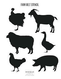 Farm Animal Stencils Printable Old Farm Animal Masks Free Printable