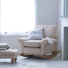 image of modern rocking chair nursery and ottoman