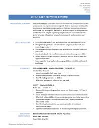Childcare Resume Child Care Provider Resume Examples Therpgmovie 13