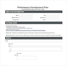 Employee Career Development Goals Examples Personal Performance Plan
