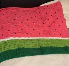 Crochet watermelon baby blanket | Etsy