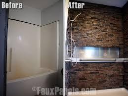 faux stone panel ideas bathroom wall panels walls