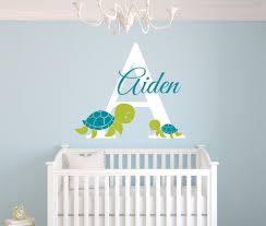 personalized turtles wall decal for boys bedroom kids room baby wall art decals remvable diy vinyl vinilos paredes mural jw038 on diy baby boy wall art with  personalized turtles wall decal for boys bedroom kids room