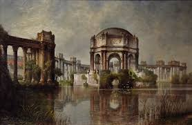 palace of fine arts and the lagoon san francisco 1915 painting by edwin deakin from the collection of the crocker art museum