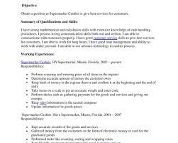Sample Cashier Resume Resume Samples Grocery Store Cashier