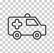 Coloring Book Ambulance Emergency Medical Services Car Kleurplaat