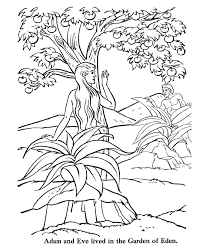 These coloring pages also include different scenes in the garden of eden that show adam and eve in different moods and times of the day. Pin On More Coloring