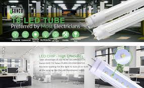 sunco lighting 10 pack t8 led tube light 4ft 48\