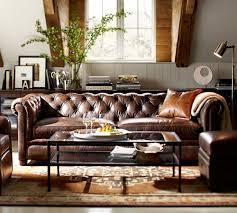 Pottery Barn For Living Room Good Question How Do I Mix Leathers In One Room Pottery Barn