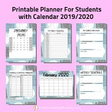 Planner Printables For Students Back To School Planner Printables For Students 2019 2020