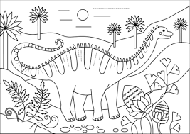 Apatosaurus Dino Kleurplaat Gratis Kleurplaten Printen