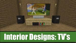 how to make a tv in minecraft. Minecraft Interior Designs Tv Ideas Youtube. Designs. Design Jobs. Minimalist How To Make A In