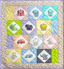Staggered Elephant Baby Quilt Pattern (32