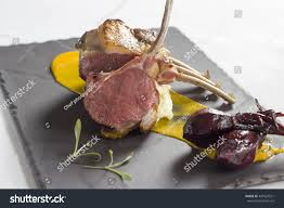 Roast Rack Lamb Baby Beetroot Garlic Stock Photo Edit Now