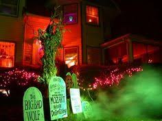 haunted house lighting ideas. get a little spooky with colored flood lights and fog machine haunted house lighting ideas h
