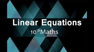 linear equations cbse class 10 x maths