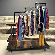 Diy Pipe Coat Rack Best 100 Pipe Clothes Rack Ideas On Pinterest Diy Within Galvanized 80