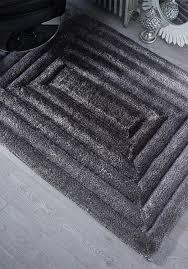 verge brook black grey rug