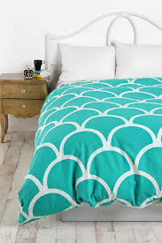 d stamped scallop duvet cover