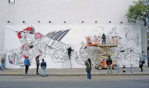 houston bowery wall on mural wall artist with houston bowery wall art mural keith haring new york city urban