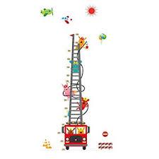 Ladder Height Chart Amazon Com Winhappyhome Fire Ladder Kids Height Measurement