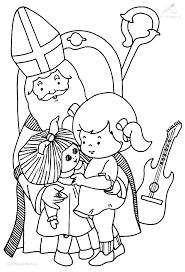 1001 Kleurplaten Sinterklaas Sint Meisje Krijgt Een Pop Van
