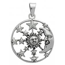 symbology pendant sun moon stars for hope sterling silver paganrealms com