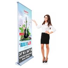 Retractable Display Stands Double Sided Economy Retractable Banner Stand 100 x 100 Stand 12