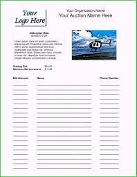 Sample Bid Sheets For Silent Auction Auction Html Template Pretty Figure Silent Auction Bid Sheets