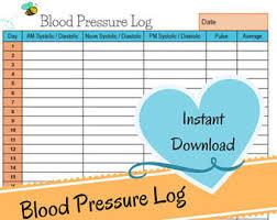 blood pressure readings log blood pressure log etsy