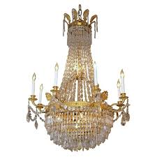 antique french empire ormulu and baccarat crystal chandelier for french empire chandelier
