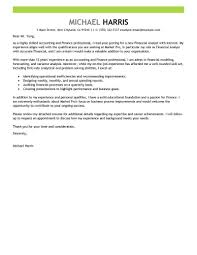 Accounting and Finance: Cover Letter Example
