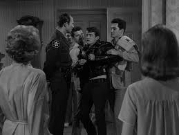 earl hamner jr s black leather jackets is hands down the weirdest wackiest episode in the entire series however compared to the outer limits which