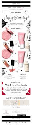 although the birthday gift is not mentioned in the subject line it s possible that sephora customers know to expect a birthday gift which may help