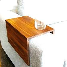 sofa arm tray table wooden