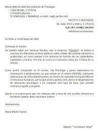 Carta De Presentacion Modelo Modelos De Carta De Presentacion De Un Curriculum Vitae