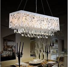 rectangular crystal chandelier fantastic dining room for attractive household interior design 44