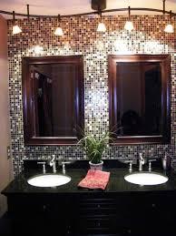 backsplash bathroom ideas. Backsplash Bathroom Ideas With Double Mirrors And Sinks A