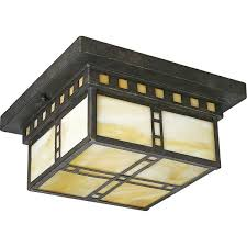 for the progress lighting weathered bronze arts crafts two light flush mount ceiling fixture with light honey art glass panels and save