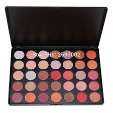 2017 professional 35 color eyeshadow palette 100 shimmer make up pallete beauty set smoky glitter
