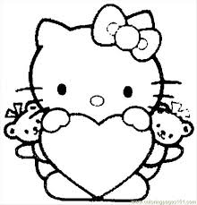 Small Picture Hello Kitty 04 Coloring Page Free Hello Kitty Coloring Pages