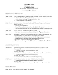 math tutor resume