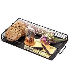 Decorative Wire Tray Black Galvanized Metal Wire Nesting Serving Trays Decorative 63