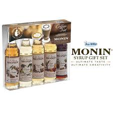 monin coffee syrups 5 x 50ml bottle gift set perfect for