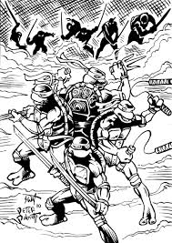 Small Picture Coloring Pages Teenage Mutant Ninja Turtles By Peterpalmiotti On