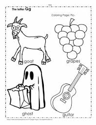 Here, you will find free phonics worksheets to assist in learning phonics rules for reading. The Letter G Coloring Pictures Worksheets