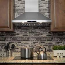 Convertible Kitchen Wall Mount Range Hood in Stainless Steel with Touch  Control and
